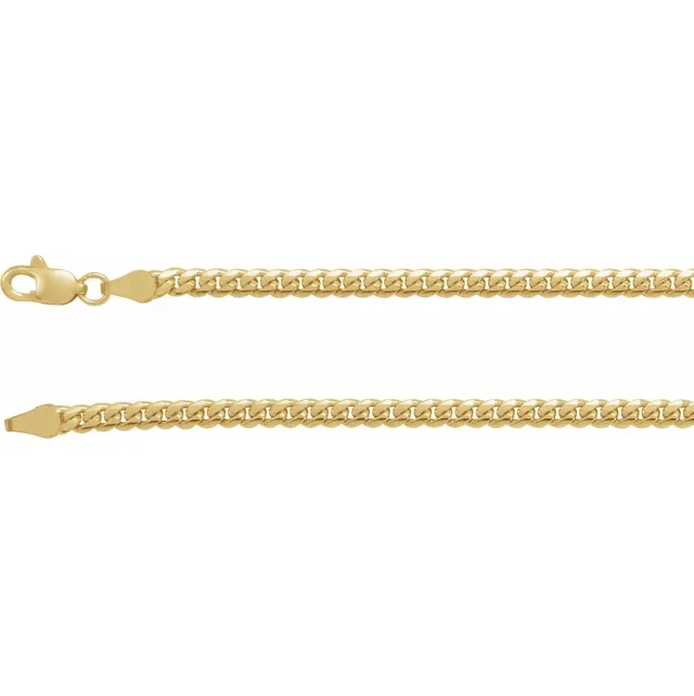 Gold chain link necklace for him